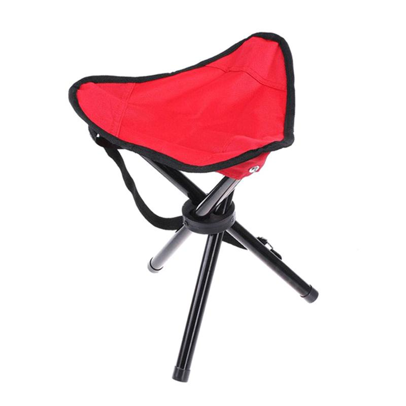 Groovy Us 9 64 42 Off Portable Folding Tripod Stool Three Legged Stool Chair Seat For Fishing Camping Hiking Red In Outdoor Tools From Sports Inzonedesignstudio Interior Chair Design Inzonedesignstudiocom