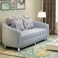 Circular duplo dobrável sofá cama preguiçoso sofá arte de pano multifuncional pequena família pode desfazer e lavar