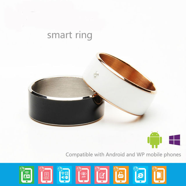 Nuevo timbre inteligente Inalámbrico distancia 1.5 cm impermeable ip68 nfc smartring para sistema Android y Windowsphone