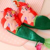 Candice guo! carino peluche bellezza Mermaid pesce Principessa Alice sacchetto della matita dei bambini ragazze amano di più di compleanno regalo Di Natale 1 pz