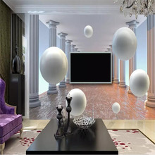 Three-dimensional ball 3d background wall professional production murals wholesale wallpaper custom poster photo