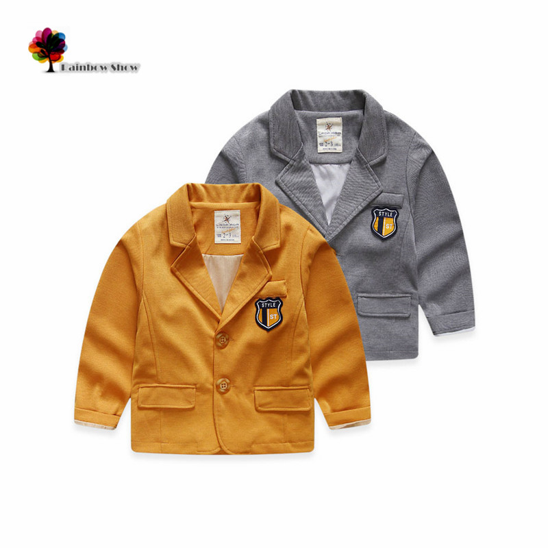 New Children Clothing Boys Autumn Spring Classical Preppy Style Brief Design Ins