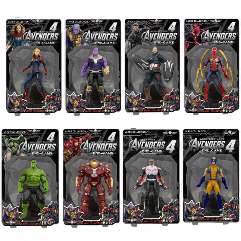 15m vingadores 4 final figura de ação modelo pvc anime hulk buster thor ironman wolverine thanos falcon boneca coleção brinquedo do miúdo