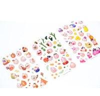 6 листов поделки красочные присоединяйтесь кролики каваи наклейки дневник планировщик журнал дневник Примечание бумага скрапбукинг альбомы phototag