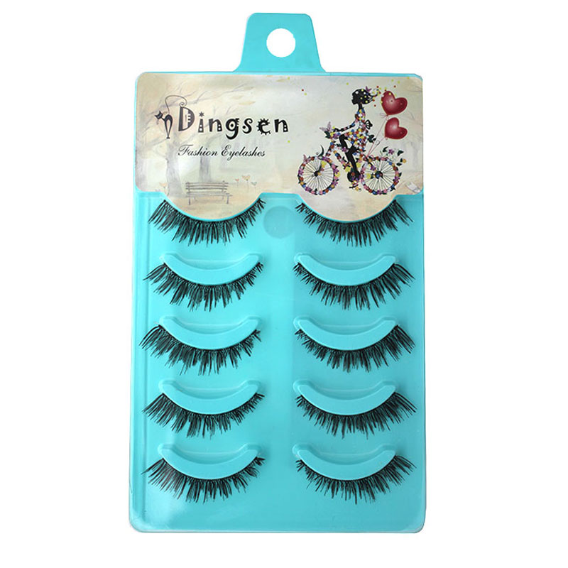 5 Pairs Thick Cross False Eyelashes For Women Handmade Mink Eye Lashes Extensions Long Fake Eyelash Charming Beauty Makeup Tips