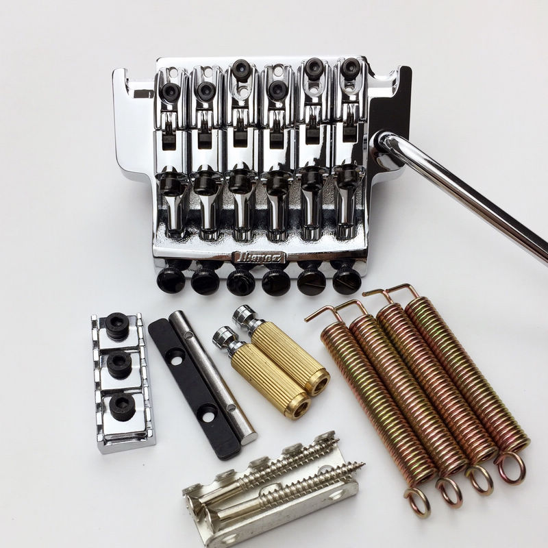 1 SET EDGE III Electric Guitar Locking Tremolo System Bridge String lock 43MM For IBZ Chrome эспадрильи der spur кеды на обычной подошве