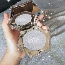 Diamond Highlighter Shimmer Face Nose Bronzer Lasting Potato Cream Highlight Illuminator Cosmetic Eyeshadow Pressed Powder