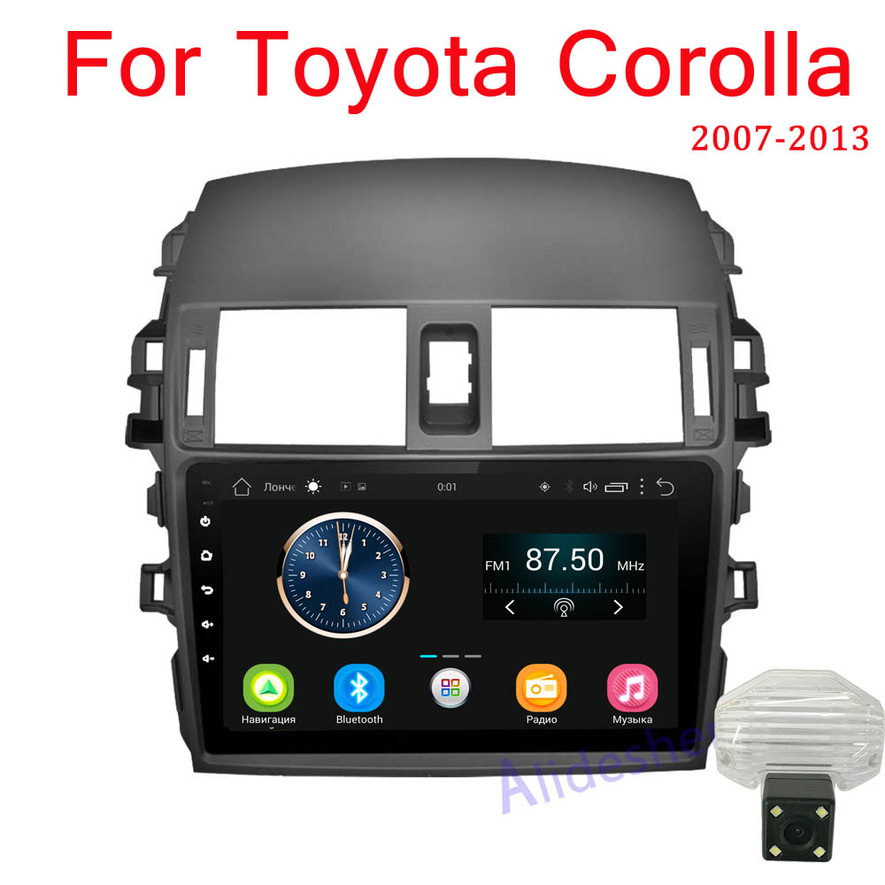 Android 8.1 Car Radio Multimedia Player For Toyota Corolla E140/150 2008 2009 2010 2011 2012 2013 Stereo GPS Navigation 2 din-in Car Multimedia Player from Automobiles & Motorcycles