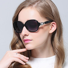 HD. espacio gafas de sol Polarizadas de las mujeres 2017 señoras polarizadas diamantes grandes marcos de gafas retro gafas de sol gafas de sol de las mujeres