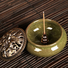 1Pcs Portable Incense Burner Censer High Plug Alloy Copper Holder Can Be Fixed Sticks Coil
