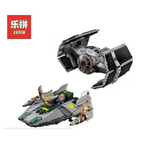 722Pcs LEPIN 05030 Star Wars Vader Tie Advanced VS A Wing Starfighter 75150 Building Blocks Compatible