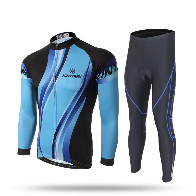 XINTOWN Fluor Spring Summer Autumn Cycling Jersey Quick Dry Ropa Ciclismo Bicycling Shirts Bike Sets Gel Cycle Maillot Culotte veobike fluorescence cycling jersey set men autumn outdoor sport mtb bike bicycle quick dry long sleeve clothes ropa de ciclismo