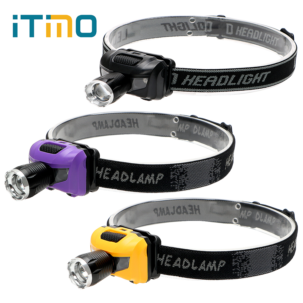 4 Modes Spotlight Emergency lights Zoomable Emergency Light LED COB Headlamps Headlight Torch For Outdoor Activities