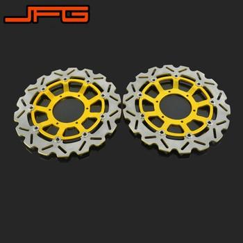 1 Pair Motorcycle Front Floating Brake Disc Rotor For HONDA CBR600 03-14 CBR1000 04-05 CB1000 08-14 CB1300 06-11 CB1284 03-08