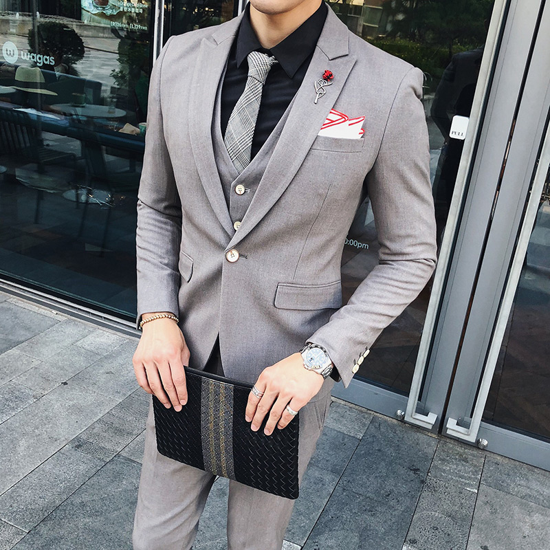 3pc High Quality Men Suit Brand New Slim Fit Casual Business Dress