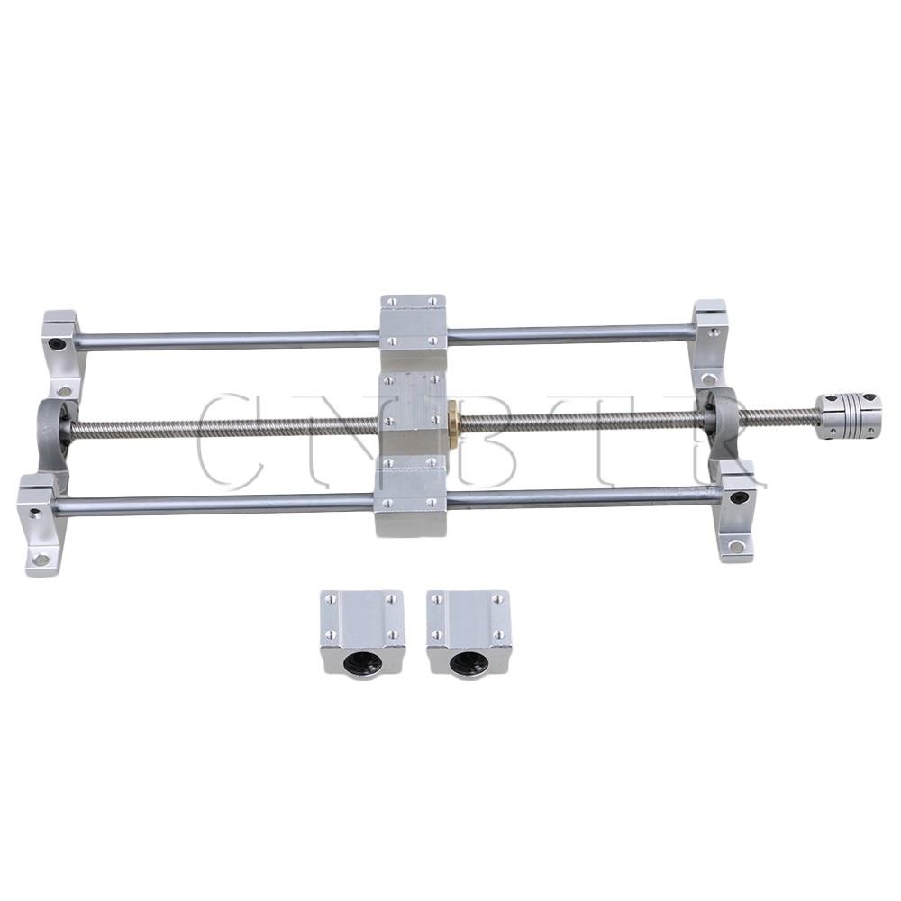 CNBTR T8 Horizontal Dual Rails 300mm Optical Axis & 350mm 8mm Lead Screw Set цены