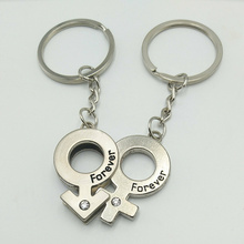 1 Pair of Hot Creative Men and Women Couple Love Forever Eternal Keychain Valentines Day Gift Pendant