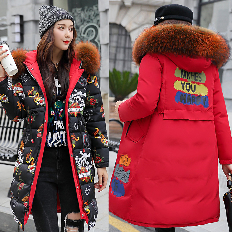 Femmes de mode d'hiver 2018 veste d'hiver femmes femme manteaux d'hiver et vestes sous-vêtements manteau de fourrure parkas manteau femmes plus la taille