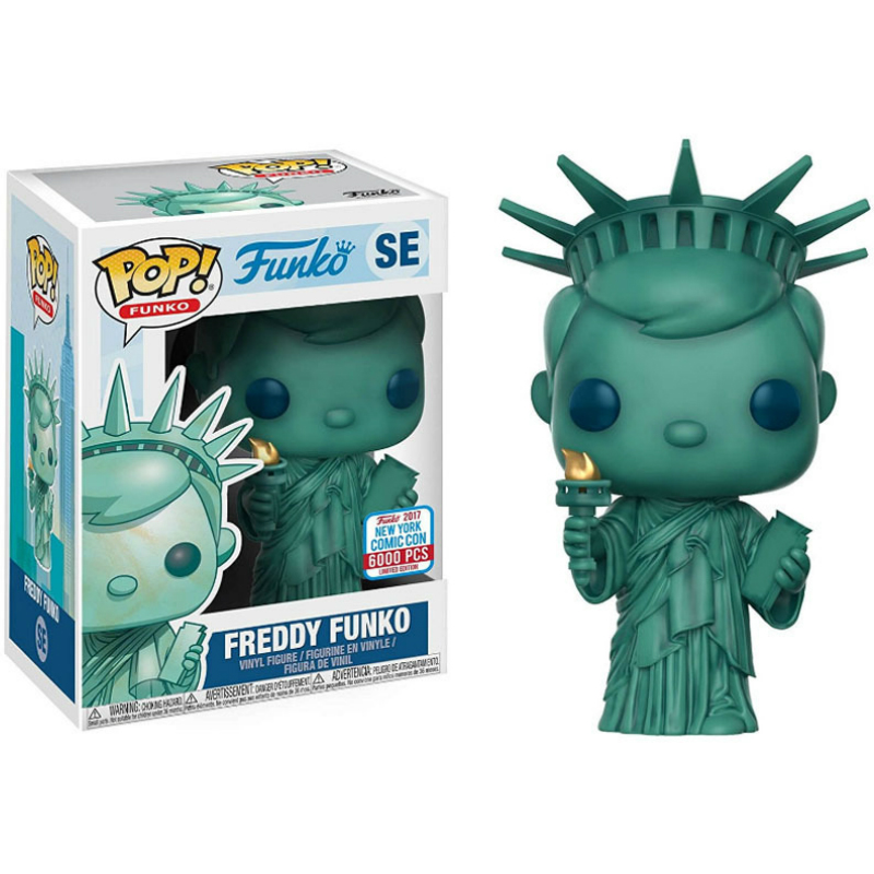Funko Pop Freddy Statue Of Liberty Action Figure Vinyl Doll Model Vinyl Doll Collection Toys For Kids Christmas Gifts