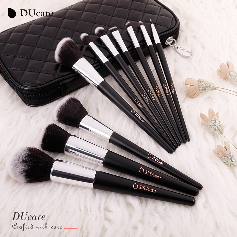 DUcare 10pcs set Makeup Brushes High Quality Beauty Cosmetics Foundation Blending Blush Make up Brush tool