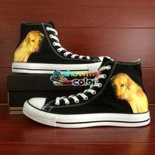 Golden Retriever Dog Pet Original Design Hand Painted Canvas Shoes Men Converse Sneakers Women Athletic Shoe Brand Chuck Taylor