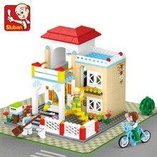 380Pcs Girl Friends Sweet Home Kid Dream Shopping Series Building Blocks Sets House Bricks Model LegoINGLs Toys Christmas Gift