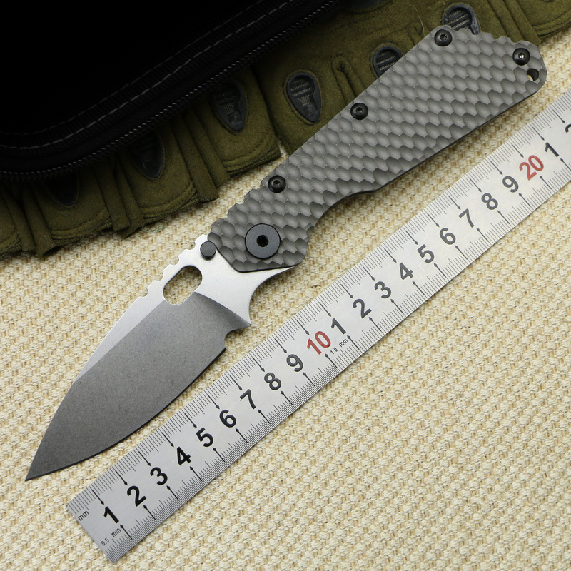 LOVOCOO SMF SNG Folding Knife D2 Blade Carbon Fiber Titanium Handle Copper Outdoor Tools Fruit Knife