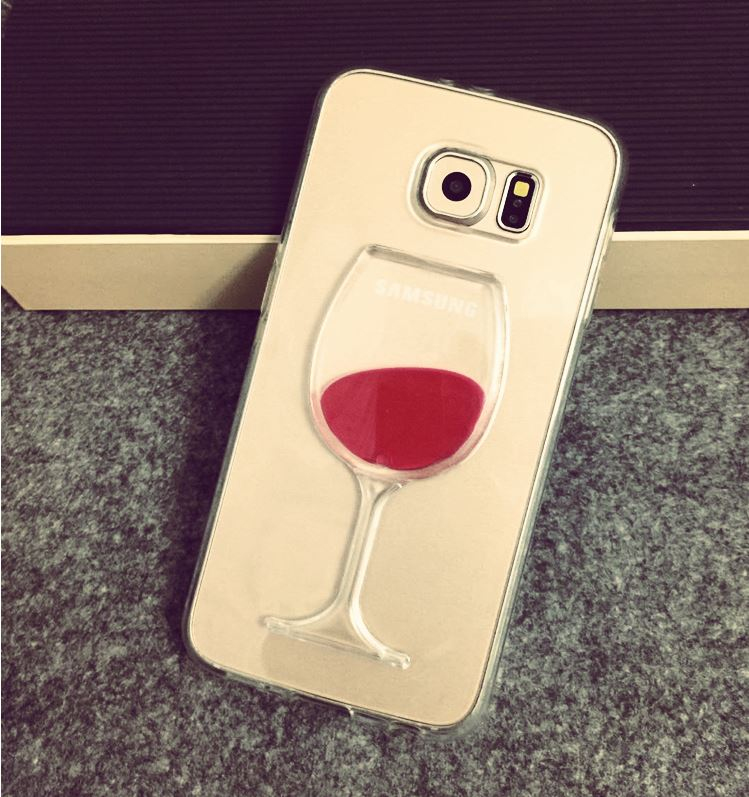 watch 6c085 4ceb6 Flowing Liquid Red Wine Glass Cup Capa Case for Samsung Galaxy S10 Lite S10  S9 S8 Plus S6 S7 Edge iPhone XS Max XS XR X 8 7 Plus