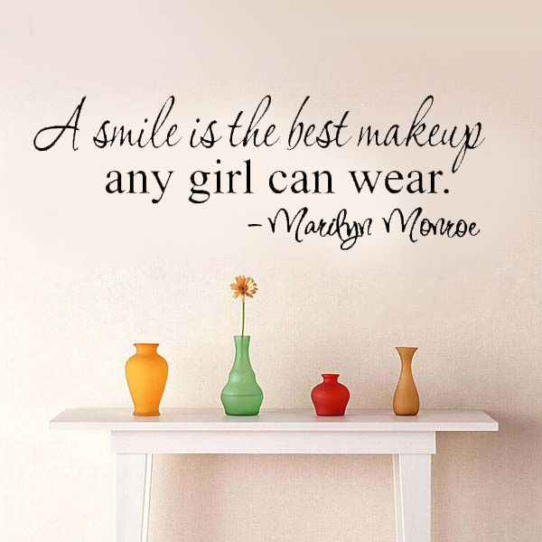 A Smile Is The Best Makeup Any Girl Can Wear Marilyn Monroe Wall