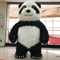 New Style Inflatable Panda Costume Party Cosplay Costume Advertising 2.6M Tall Customize For Adult Suitable For 1.6m To 1.85m