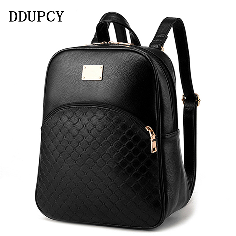 ecd915ecfa03 2018 Fashion Vintage Casual New Style Leather School Bags High Quality  Hotsale Women Candy Designer Brand