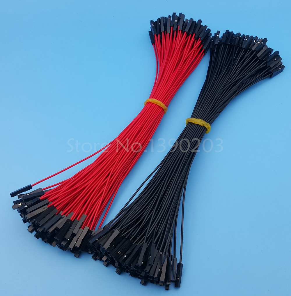 200Pcs Female To Female Red Black 26AWG 20CM Dupont Wire Cable Connector