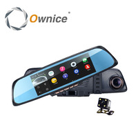 Ownice 6.86 Touch Screen Android Car mirror Dual lens Camera dvr gps navigation Ram 1gb Rom 16gb wifi FM transmit function