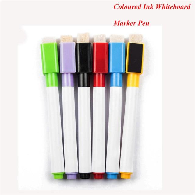 6 teile/los Farbige Tinte Whiteboard Marker Pen Set Mit Radiergummi ...