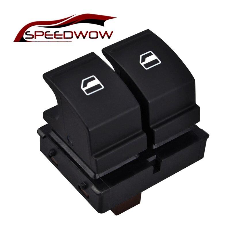 SPEEDWOW Electric Master Window Switch Window Regulator Switch For SKODA YETI FABIA MK2 OCTAVIA 2 ROOMSTER 1Z0 959 858/1Z0959858