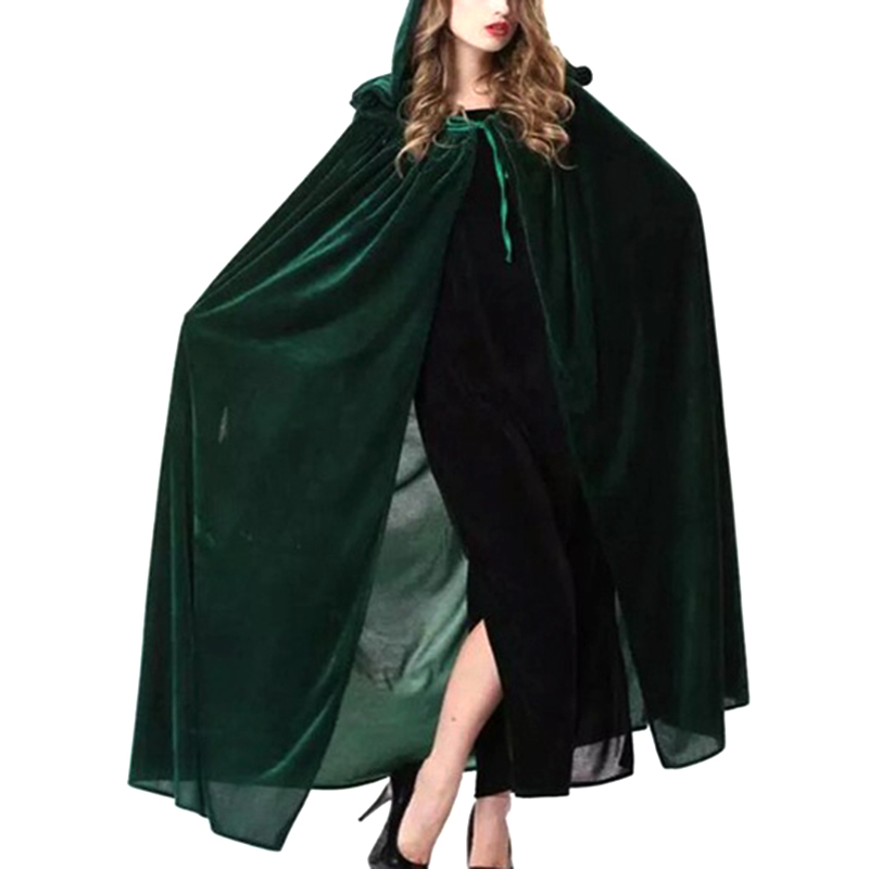 Blue Green Color 2017 Newly Design Witch Cloak Hoodies Cosplay Clothing Costume For Halloween Party For Children Size M/L