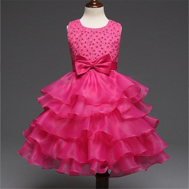 404832c99abf2 Cérémonie de mariage Costume De Bal Robe Pour Petite Fille 3-10 Ans Robe  Plissée