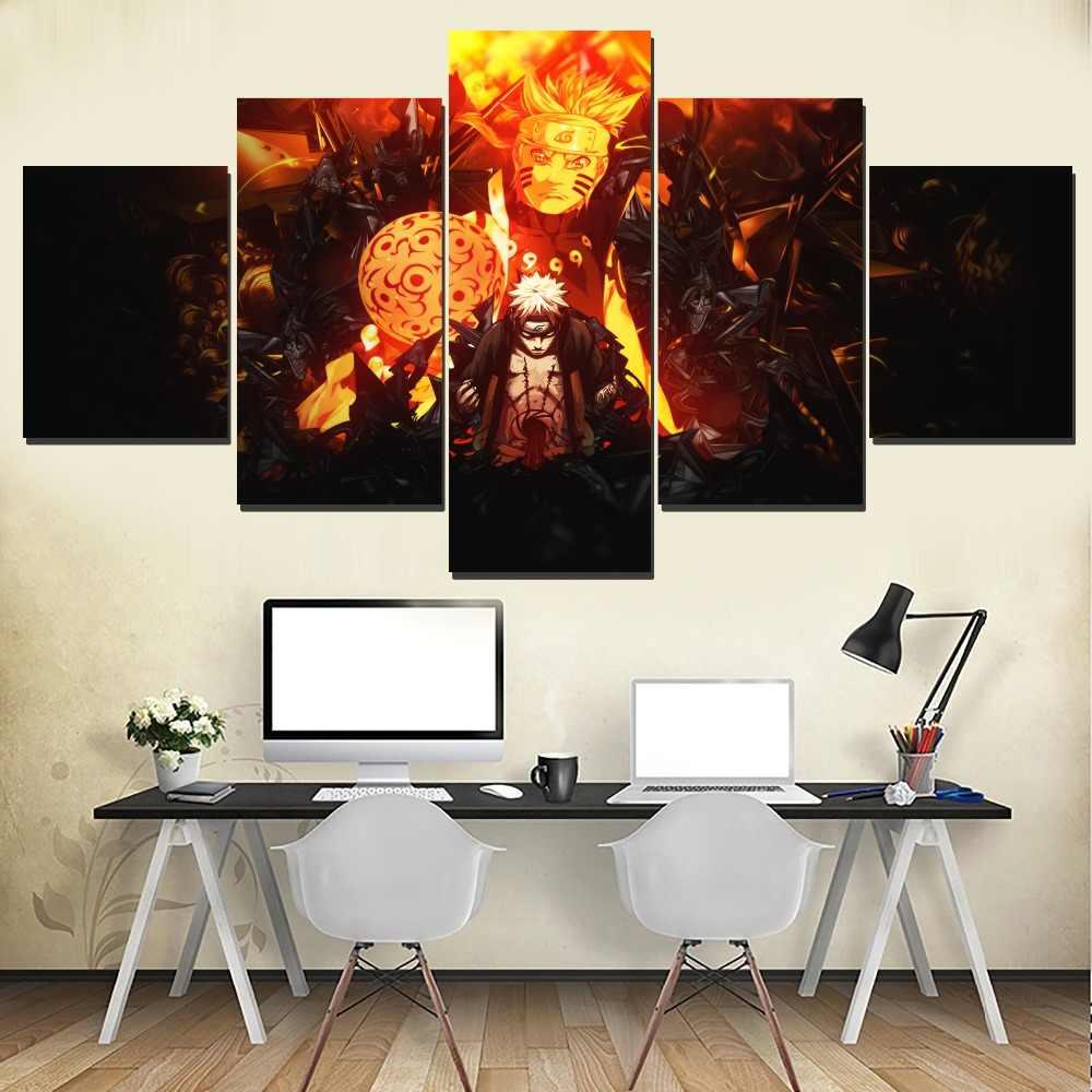 Anime Naruto Poster Tường Trang Trí Hình Ảnh In Loại 5 cái Naruto Uzumaki Naruto Và Sasuke Uchiha Canvas Vẽ Tranh Modular Nghệ Thuật