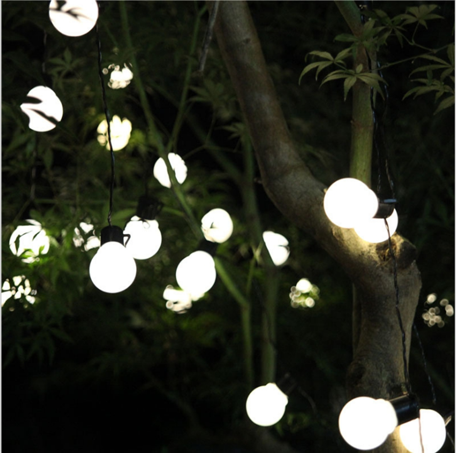 YINGTOUMAN Christmas Plugs Waterproof String Lights Ball Type Lamp Garden Decorationsfor Home Outdoor Party Wedding 5m 20LED