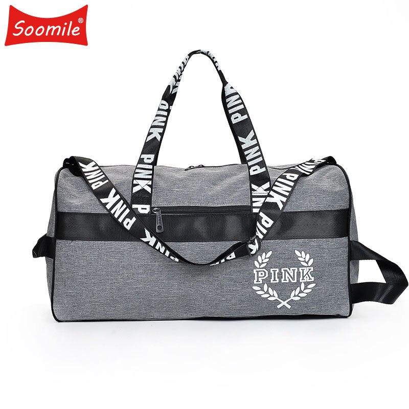 Soomile NEW hot sale fashion travel duffel bag women men Business Handbags Victoria Beach shoulder bags VS large secret capacity