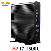 Windows Mini PC i7 5500U i7 4500U Barebone HTPC Платформа Intel NUC Безвентиляторный Компьютер бродуэлл Graphics HD 5500 300 м Wi-Fi