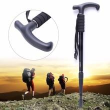 4 Section Adjustable Anti-Shock Hiking Walking Stick Cane Pole Trekking Crutches