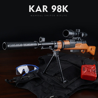 2019 Hot Sale Mini 98K Sniper Rifle Manual Toy Gun Live Action CS Battle Toy 7 8MM Bullet Outdoor Toy Gun Child Baby Toy Gift