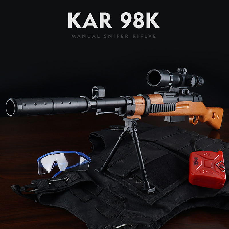 2019 offre spéciale Mini 98 K Sniper Fusil Manuel pistolet jouet Live-Action CS Bataille Jouet 7-8 MM Bullet jouet d'extérieur Pistolet Enfant Bébé Jouet Cadeau