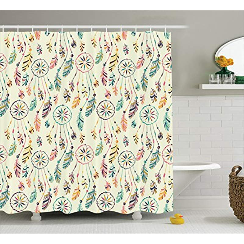 Bathroom Products Discreet Vixm Native American Shower Curtain Colorful Of Tribal Boho Dreamcatchers Soft Retro Colors Shaman Symbol Fabric Bath Curtains As Effectively As A Fairy Does