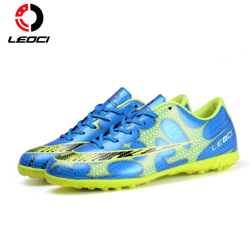 LEOCI Football Shoes Children Athletic Soccer Shoes Men Botas De Futbol Indoor Soccer Cleats Football Soccer Boots Superflys tiebao e1018c professional kids indoor football boots turf racing soccer boots training football shoes