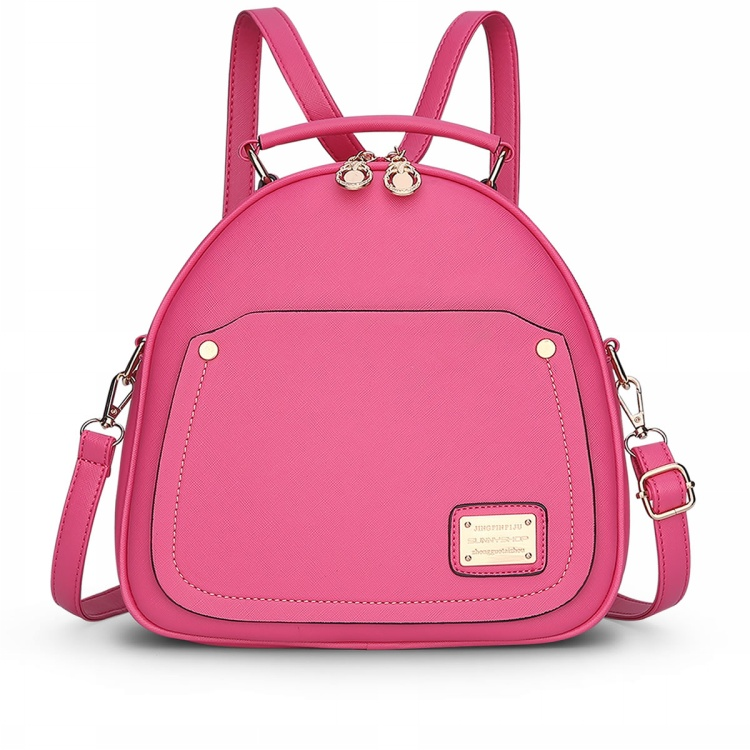 e7d68dc3621 Melodycollection Candy Color PU Leather Mini Backpack for Women Girls Purse  Fashion Schoolbag Mini Casual Daypack Dome Backpacks