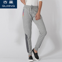 NEW Casual Running Exercise pants Dance Female Side Three bars Sweatpants sports Women Trousers Loose Gray Harem Pants AKLN086