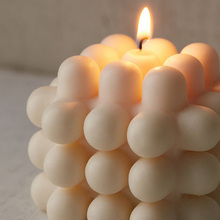 INS Hot Modern Stackable Candle 3D Milk Candles Soy And Bee Wax Sample Room Nordic Style Decorative
