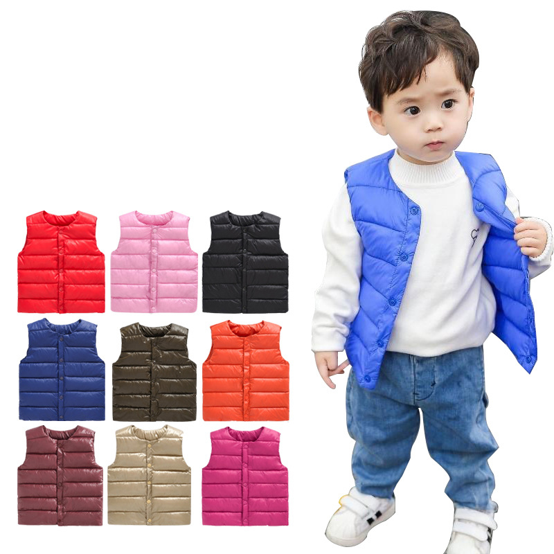 Baby Vest Autumn Winter Boy Vest Jacket Children Outerwear Coats For Girls Vest Infant Cotton Down Sleeveless Kids Warm Jacket